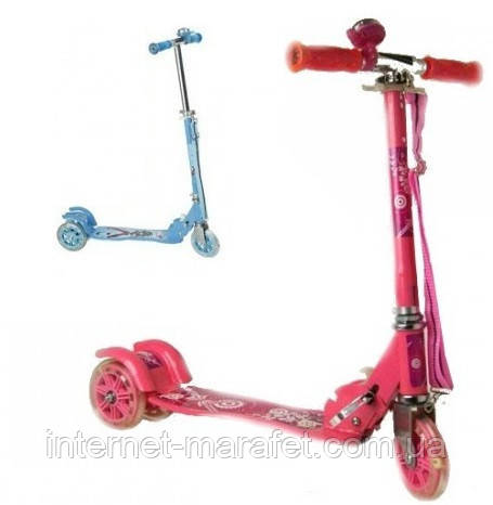 Трехколесный алюминиевый самокат Scooter (Розовый)