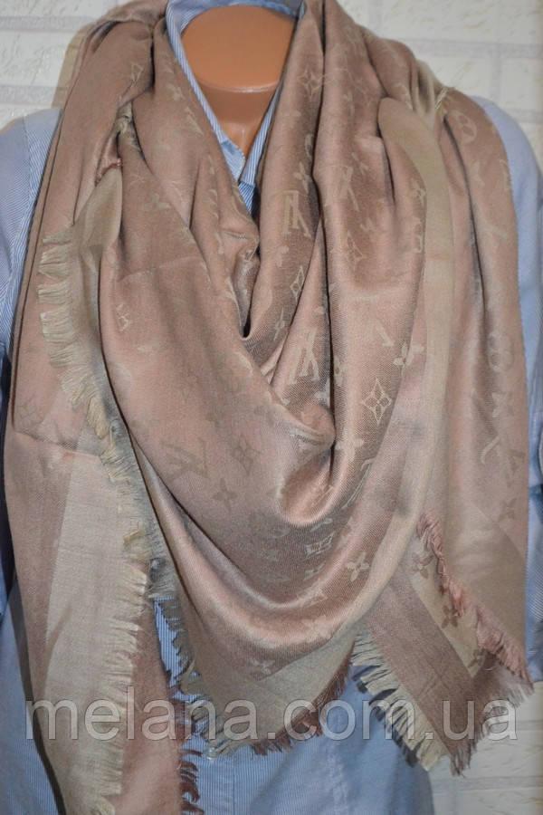 Платок шаль в стиле Louis Vuitton (Луи Витон) капучино - Интернет-магазин  женской 3387cd85fee