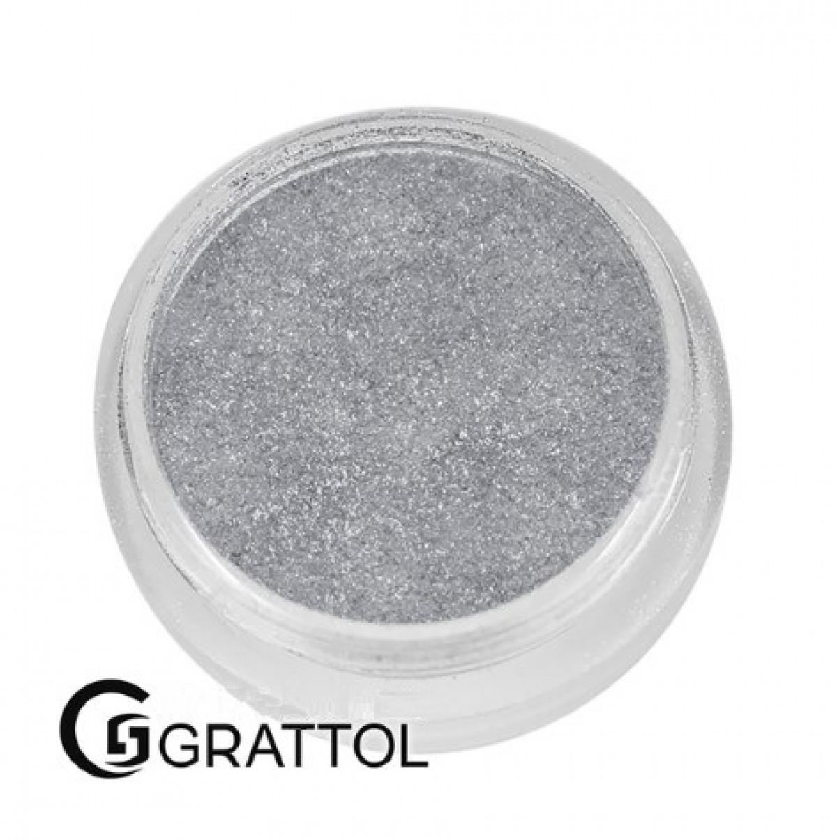 Зеркальная втирка Mirror Powder Silver 01, 1,1 г Grattol