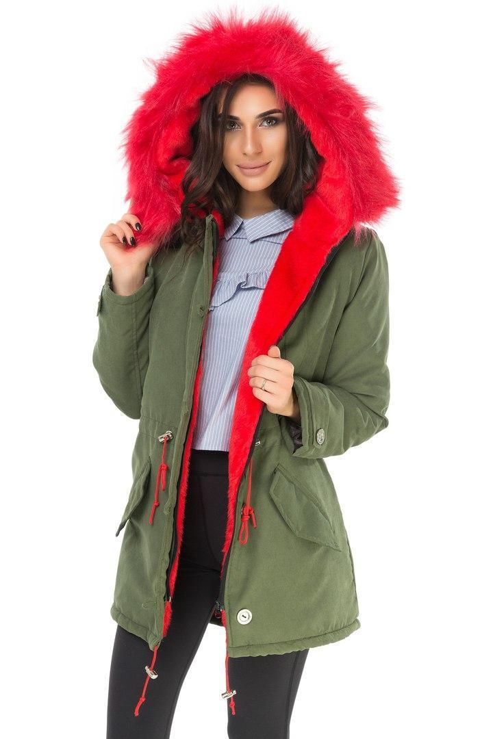 Стильная  куртка парка   размер 42,44,46