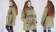 Женское зимнее пальто  плотная плащевка до 54размера