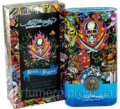 Ed Hardy Hearts & Daggers (100мл), Мужская Туалетная вода  - Оригинал!