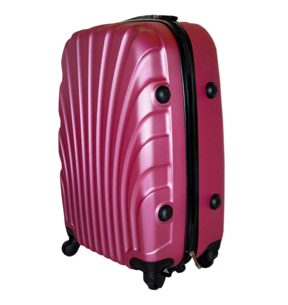 71d1c37b6a04 Дорожный чемодан 4 колеса набор 3 штуки розовый, артикул  6-244, ...