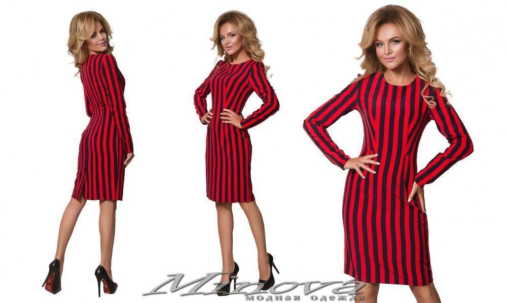 Стильное эффектное платье в полоску Minova (42,44,46,48,50)