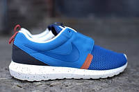 Мужские кроссовки Nike Roshe Run NM Breeze - Military Blue / Black