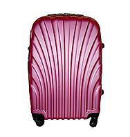 Дорожный чемодан 4 колеса (небольшой) розовый, артикул: 6-244