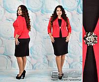 Элегантное  женское платье французский трикотаж. Размеры 52,54,56,58,60,62