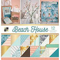 Набір двостороннього паперу - DCWV - Beach House - WGold Foil - 36 pkg - ЦІНА ЗА ПІВ НАБОРУ