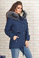 Куртка -Парка, утеплитель 100-ка + подкладка - натуральная овчина Размер: 48.50.52.54.56
