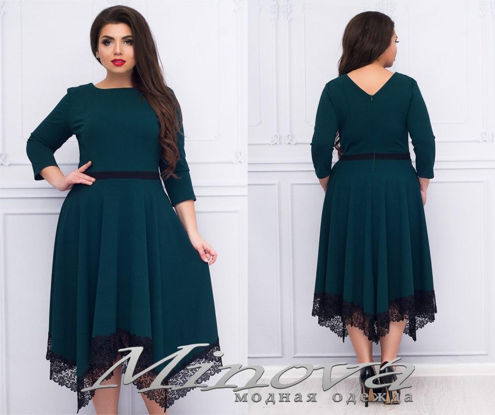 Нарядное платье креп-дайвинг ТМ Minova Размер: 50,52,54,56