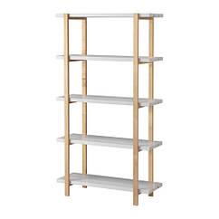 Стеллаж, светло-серый, береза, 90x35x166 см IKEA YPPERLIG 403.465.75