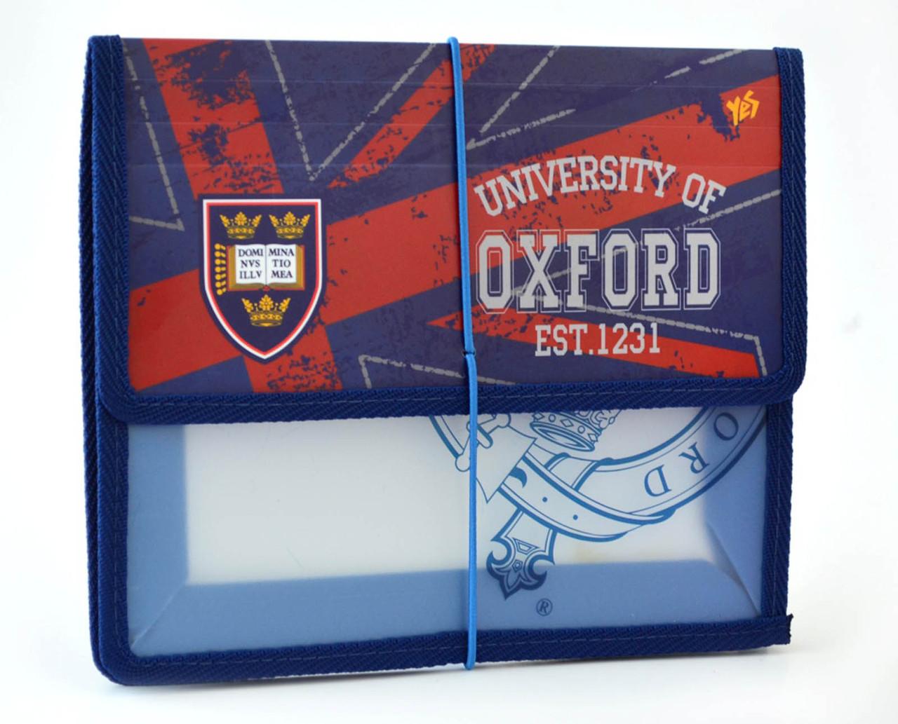 "Папка на резинке ""1 Вересня"" B5 пластик 491118 ""Oxford"""