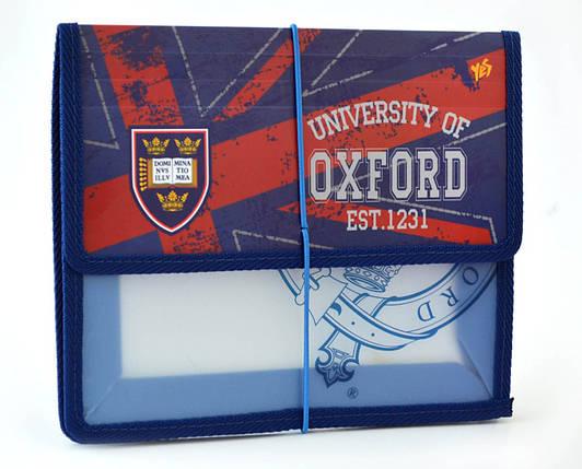 "Папка на резинке ""1 Вересня"" B5 пластик 491118 ""Oxford"", фото 2"