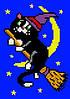Кот на метле