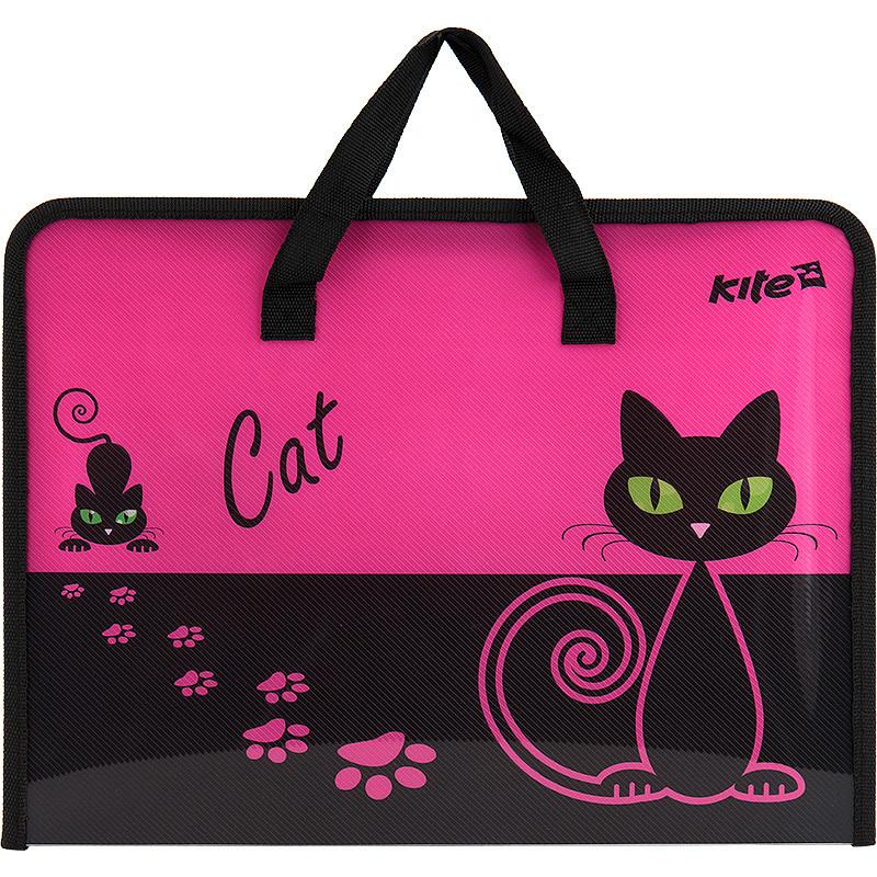 "Портфель на молнии ""Kite"" А4 ""Black Cat"" K17-202-1"