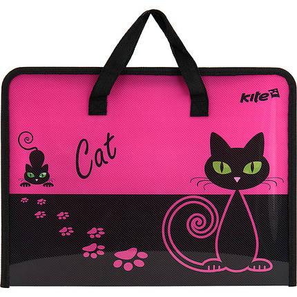 """Портфель на молнии """"Kite"""" А4 """"Black Cat"""" K17-202-1, фото 2"""