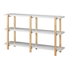 Стеллаж, светло-серый, береза, 150x35x90 см IKEA YPPERLIG 203.465.76