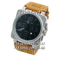 Часы Bell & Ross Aviation BR Chronographe Brown-Silver-Dark Dials