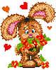 3D-Зайчонок с цветами