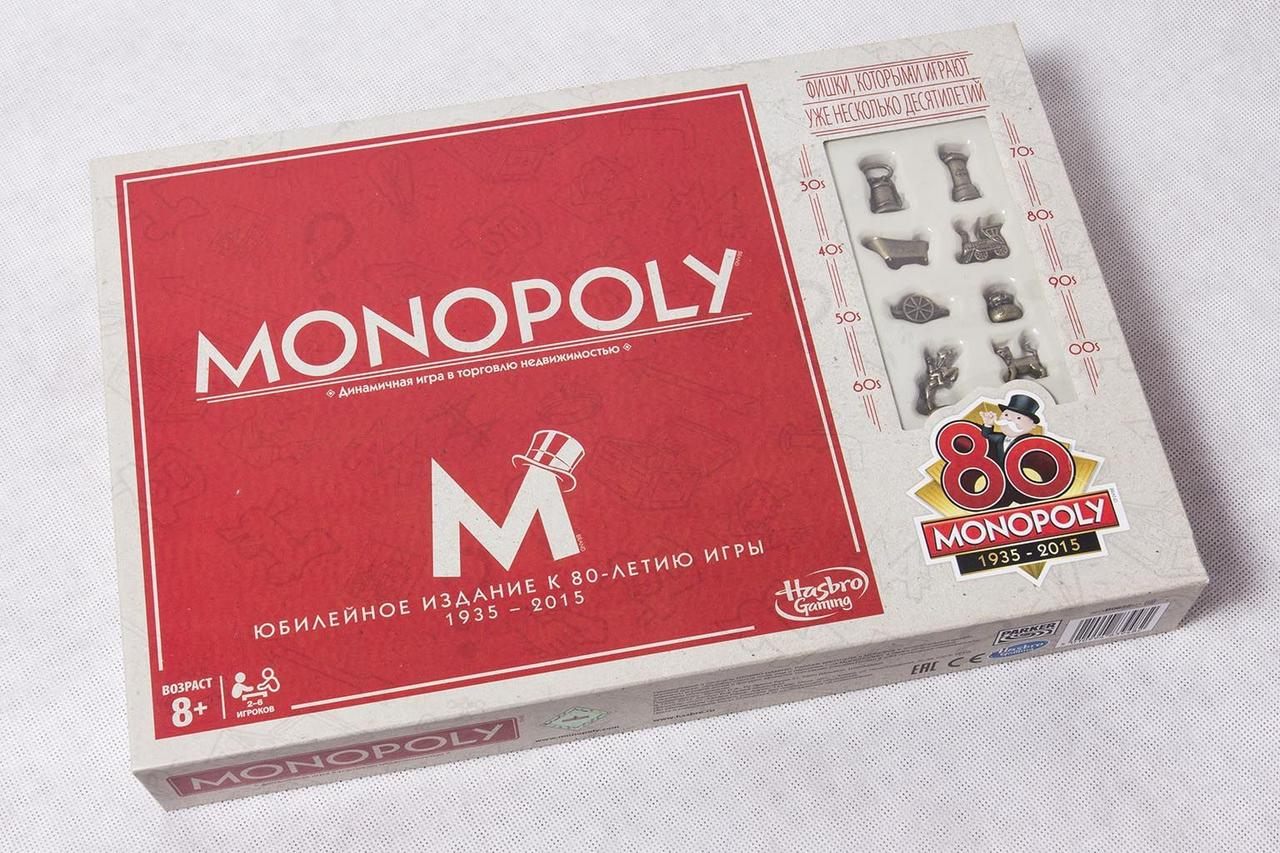 Настольная игра Hasbro™ Monopoly 80th Anniversary Edition (B0622)