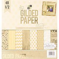 Набір одностороннього паперу - DCWV - Gilded - 48 pkg !!!ЦІНА ЗА ПІВ НАБОРУ!!!
