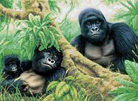 """Схема для вышивки """"Семья горилл"""""""