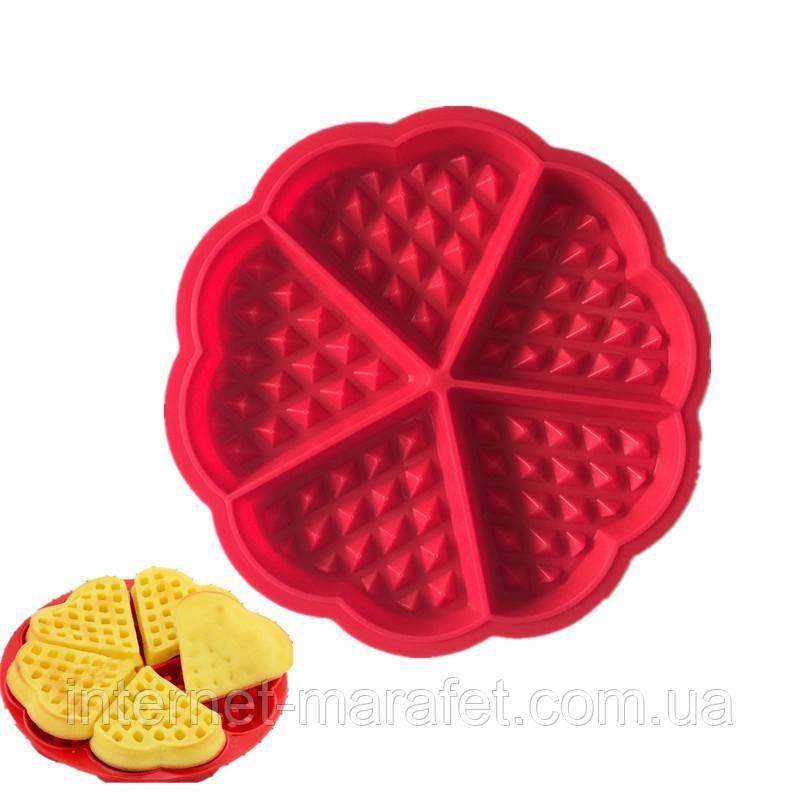 Силиконовая форма для выпечки вафель Wafer Secret (круглая)