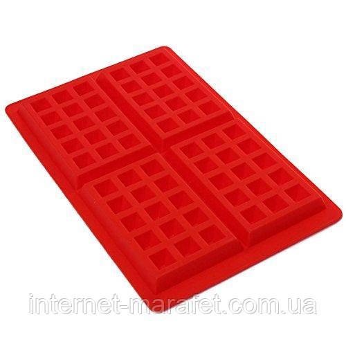 Силиконовая форма для вафель Wafer Secret (прямоугольная)