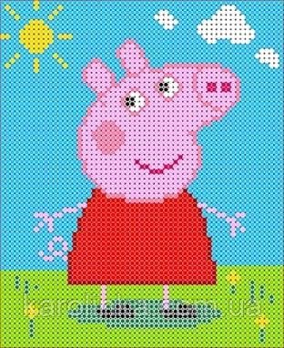 Схема свинки пеппы вышивка 844