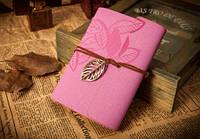 Винтажный блокнот (Розовый с блестками)
