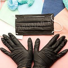 Перчатки черные р. M 50 пар NitriMAX