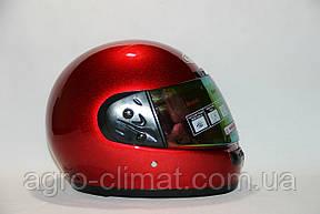 Шлемы для мотоциклов Hel-Met 101 красный мат с двумя стеклами, фото 2