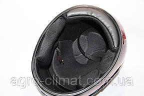Шлемы для мотоциклов Hel-Met 101 красный мат с двумя стеклами, фото 3