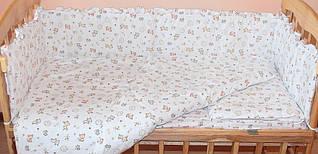 """Набор постельного белья в детскую кроватку из 6 предметов """"Евро"""" Лисички Без одеяла и подушки"""