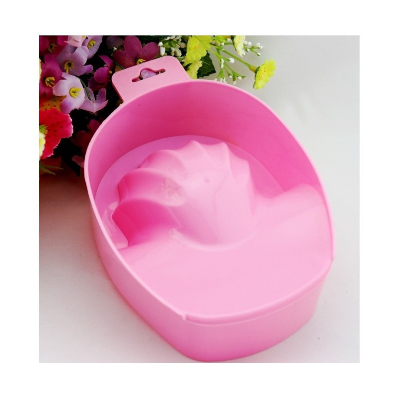 Пластиковая ванночка для маникюра розовая NeoNail