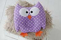 """Детская подушка-игрушка для новорожденных """"Совушка"""" фиолетовая"""
