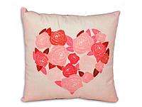 """Интерьерная подушка """"Цветущая любовь"""""""