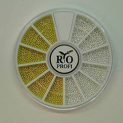 Бульонки в карусели (серебро и золото) металл Rio Profi