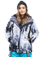 Стильная куртка для змних прогулок и спорта, водонепроницаемая, лыжная.