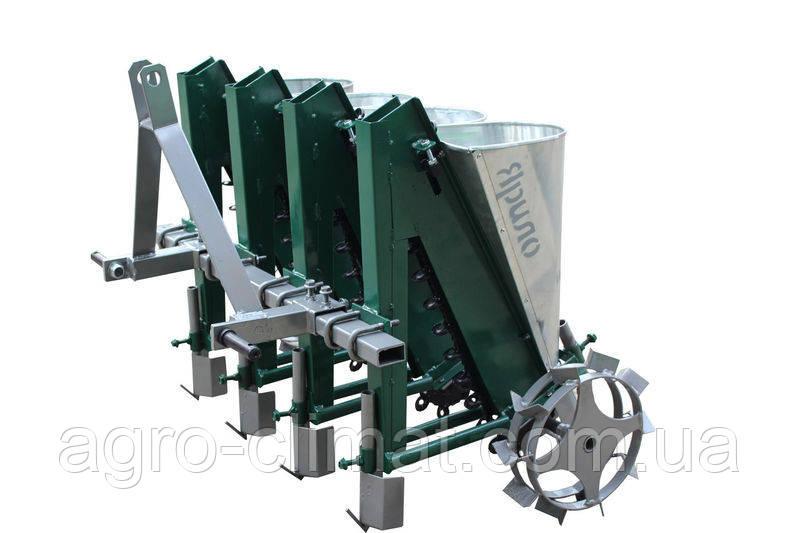 Сівалка для часнику Ярило 4-х рядна тракторна з бункерами для добрив