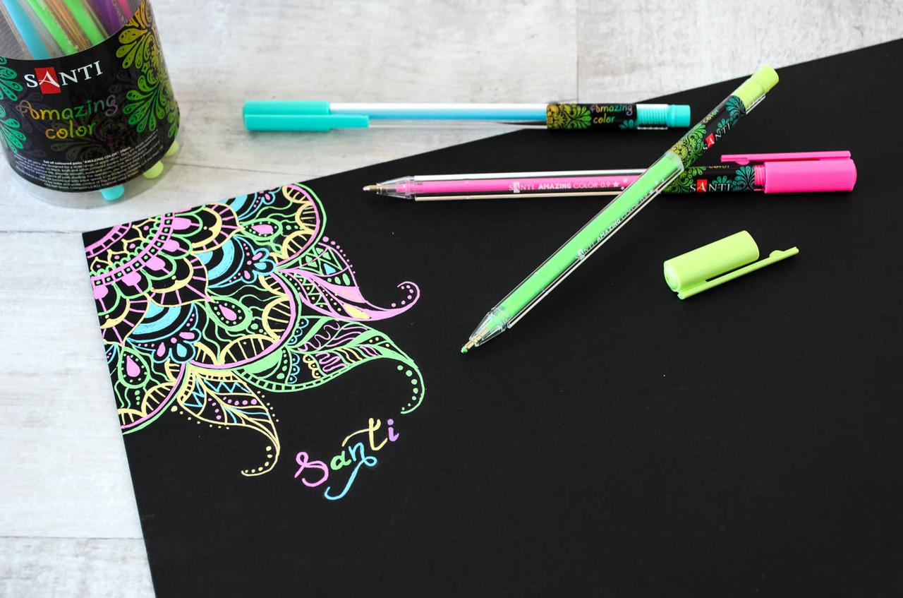 """Ручка гелевая """"Santi"""" цветные 420335 """"Amazing color"""""""