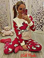Махровая женская пижама на зиму Турция LA-4280