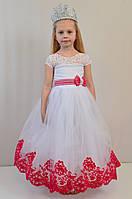 Детское нарядное новогоднее бальное платье на 7-8 лет