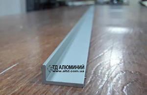 Уголок алюминиевый 20х10 х2 / анод серебро