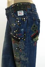 Жіночі джинси DSQUARED 2 з стразами,латками,принтом, фото 3