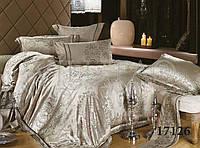 Постельное белье сатин-жаккард тиара 1726 Вилюта двуспальный евро комплект