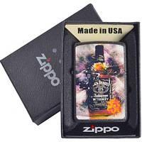 Зажигалка бензиновая Zippo в подарочной упаковке 4730-1 (Jack Daniels)