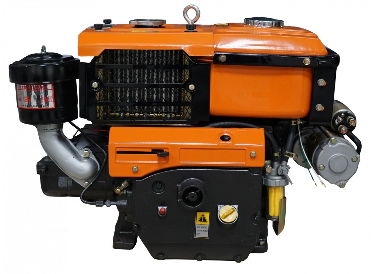 Дизельный двигатель Файтер R195ANE, 13,5 л.с. с стартером, водяное охлаждение, гарантия, доставка