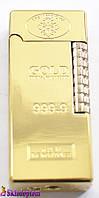 Зажигалка кремниевая слиток золота  3821