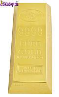"""Настольная зажигалка """"Слиток золота"""" (в подарочной упаковке) 1714"""